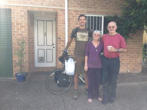 Saying goodbye to Susan & Peter in Brisbane