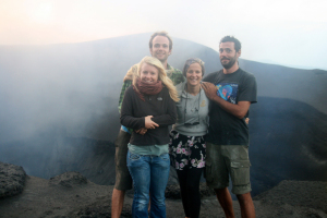 Visiting Yasur the volcano with Jess and Duncan